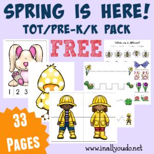 Spring Tot & PreK-K Pack