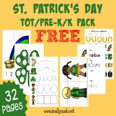St. Patrick's Day Tot & PreK-K Pack