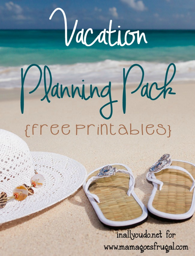 Planning vacations has never been easier with this FREE Vacation Planning Pack!! :: www.inallyoudo.net