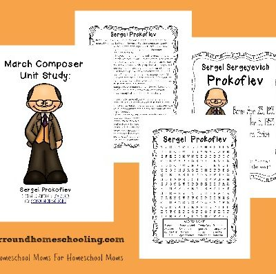 FREE April Composer Study Printables