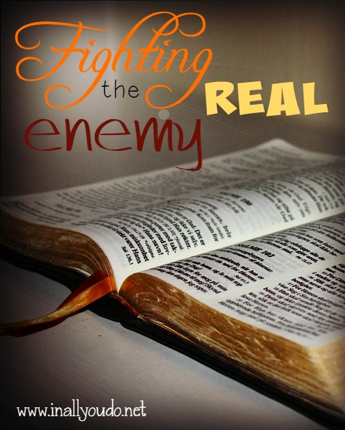 "Do you know who the real enemy is? Are you fighting with him or your friends and family? Try these 4 ways to fight the ""real"" enemy!! :: www.inallyoudo.net"