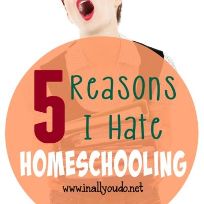 5 Reasons I *HATE* Homeschooling