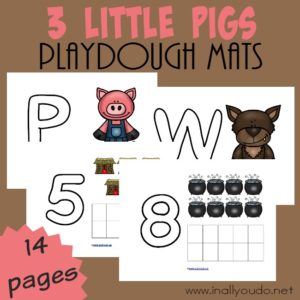 3 Little Pigs Playdough Mats