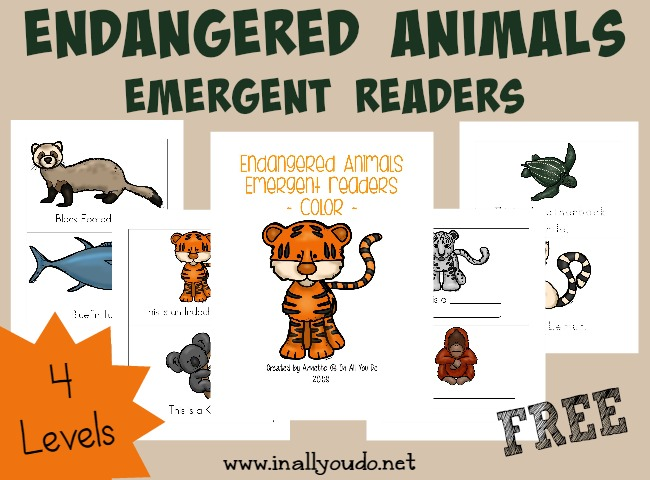 free} Endangered Animals Coloring Pages & Emergent Readers ...