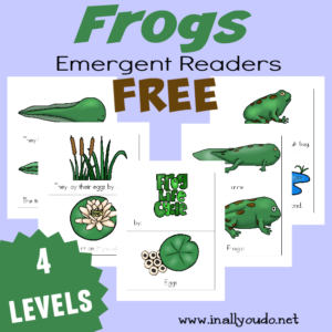 Frogs will be hopping around very soon. Kids will enjoy these fun Emergent Readers to learn more about the Life Cycle of Frogs. {4 levels} :: www.inallyoudo.net
