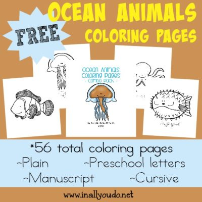 Ocean Animals Coloring Pages & Emergent Readers