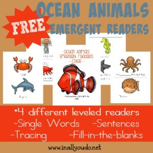These fun Emergent Readers are a great way to practice reading & learn more about these Ocean Animals!! {4 levels}