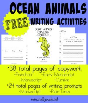 Ocean Animals Writing Activities