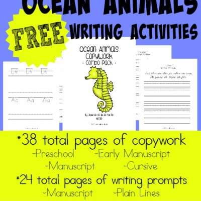 Ocean Animals Writing Activities