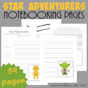 These fun Star Adventurers Notebooking Pages are PERFECT for all your Star Wars loving enthusiasts. They are a great way for them to share what they know about their favorite characters, stories and MORE! :: www.inallyoudo.net