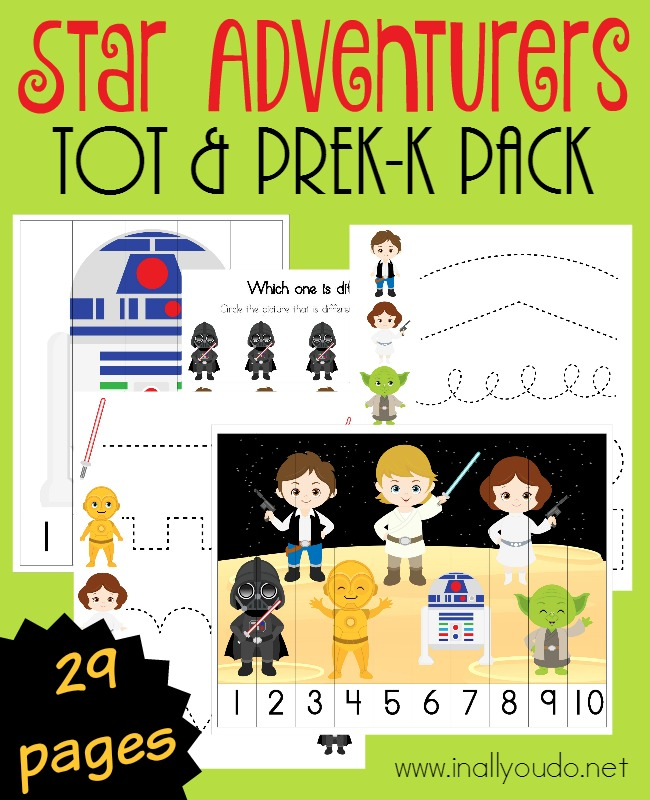 Your little Star Wars fans will be so excited to join in the May 4th celebrations this year with this activity-filled pack just for them! Includes 29 pages of puzzles & activities! :: www.inallyoudo.net