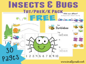 FREEBIE Insects&Bugs Tot Pack