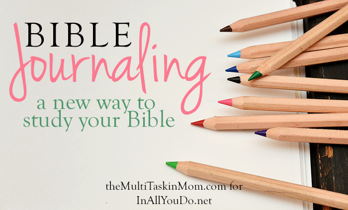 Journaling through the Bible is the newest method of Bible study. It's a wonderful way to remember what you're studying! Part of the 30 Days of Bible series. :: www.inallyoudo.net