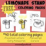 Lemonade Stand Coloring Pages