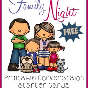 Family Night is a great time to play games, create new memories and even share old ones! Use these fun printable Conversation Starter Cards for some added fun!! :: www.inallyoudo.net