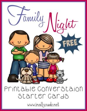 Family Night Conversation Starter Cards