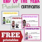 FREE End of the Year {Preschool} Certificates