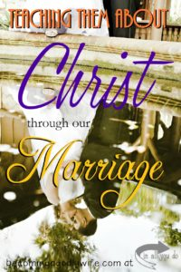 Our marriages can still be one of the most powerful ministries to help shape our children's views of God. Part of the 30 Days of Bible Series :: www.inallyoudo.net