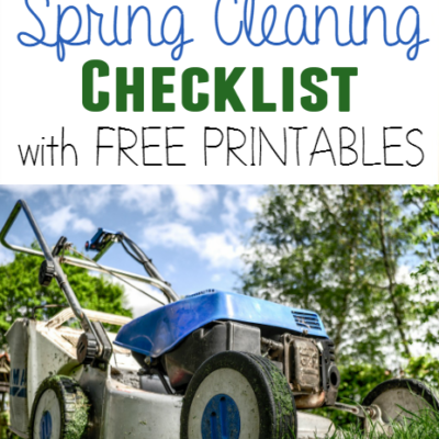 Outdoor Spring Cleaning Checklist {free printable}