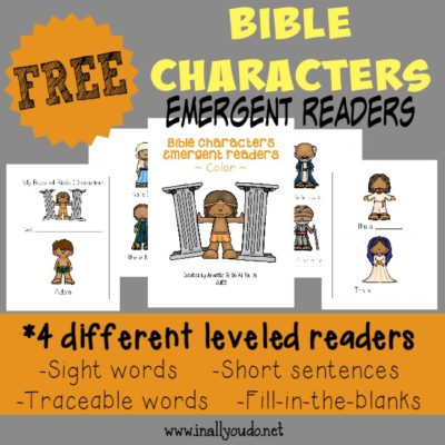 Bible Characters Emergent Readers