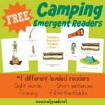FREE Camping Emergent Readers & link-up