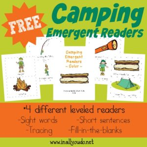 Camping Emergent Readers