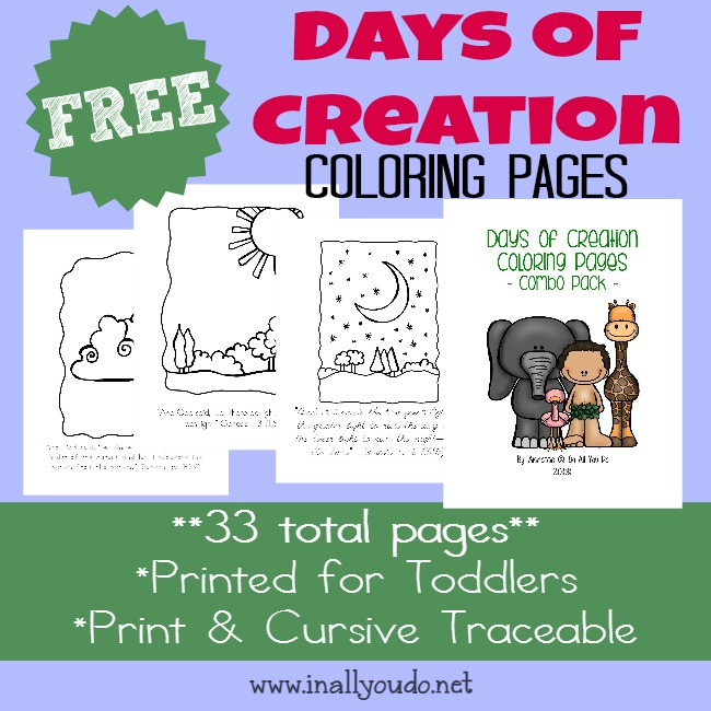 Days Of Creation Coloring Pages - In All You Do