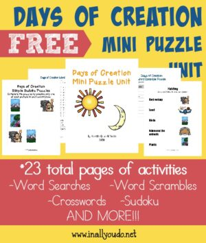 Days of Creation Puzzles & Activities