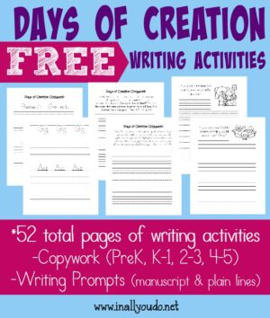 Days of Creation Writing Activities