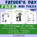 Father's Day Mini Puzzle Unit