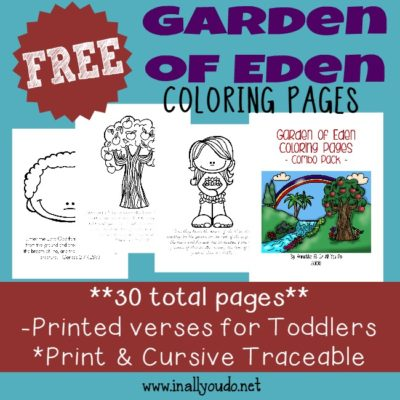 Garden of Eden Coloring Pages, Readers and MORE!
