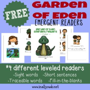 Garden of Eden Emergent Readers