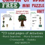 Garden of Eden Writing Activities & Puzzles