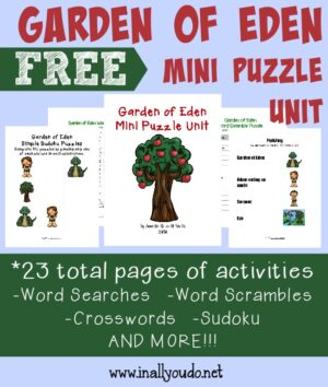 Garden of Eden Puzzles & Activities