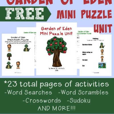Garden of Eden Writing Activities & Puzzles