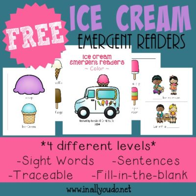 Ice Cream Emergent Readers