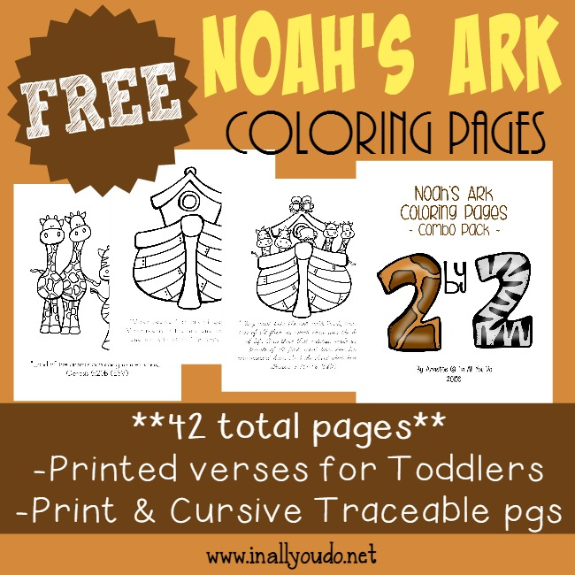 Noah\'s Ark Coloring Pages, Emergent Readers & MORE! - In All ...