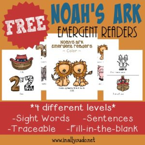 Noah's Ark Emergent Readers