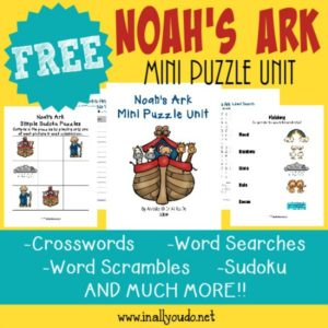 Help kids remember the Scriptures with these FUN Noah's Ark themed Puzzles. {24 total pages} :: www.inallyoudo.net
