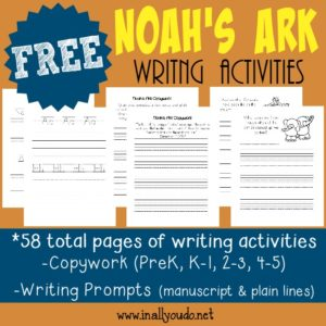 Noah's Ark Writing Activities