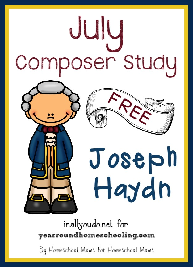 Grab the July Composer Unit Study to learn more about Joseph Haydn - composer of Claire de Lune!! {26 total pages} :: www.inallyoudo.net