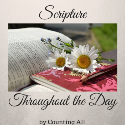 Meditate on Scripture throughout the Day