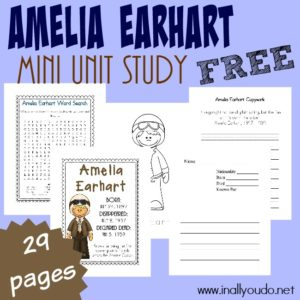 Amelia Earhart Mini Unit Study