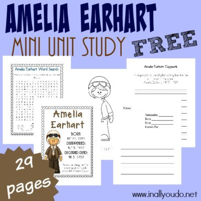Amelia Earhart Mini Unit {freebie}