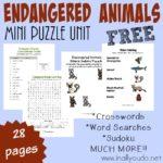 FREE Endangered Animals Mini Puzzle Unit