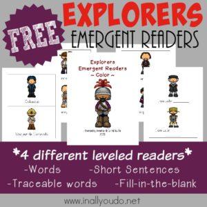 Explorers Emergent Readers