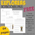 Explorers Notebooking Pages