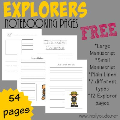 Explorers Notebooking Pages {subscriber freebie}