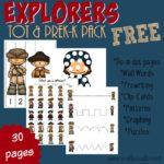 Explorers Tot & PreK-K Pack