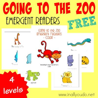 Going to the Zoo Emergent Readers {subscriber freebie}